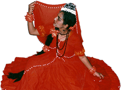 Photo of Manimekalai in an Indian dance